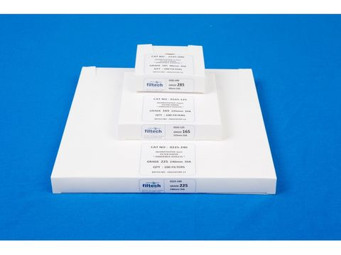 Filter paper hardened ashless med 125mm