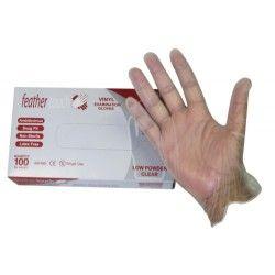 Gloves PVC powdered Large