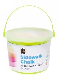Chalk 24 coloured jumbo