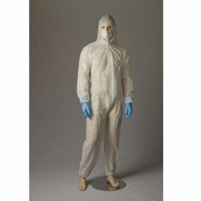Coverall Polypropylene White Large