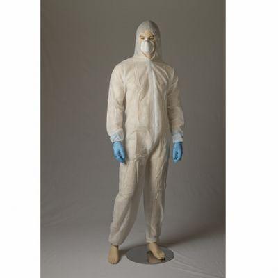 Coverall Polypropylene White Medium