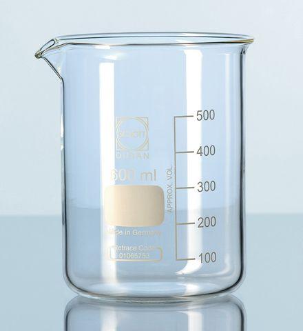 Beaker low form glass 10ml Schott
