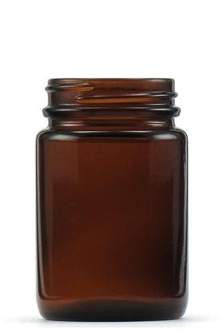 Jar pomade amber glass 125ml w/o lid
