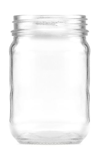 Jar glass screw cap 250ml w/o lid