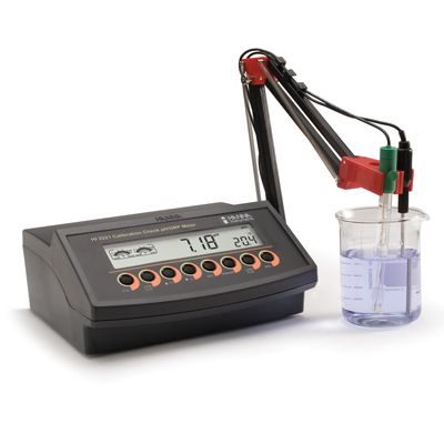 pH bench meter with pH & ATC probes