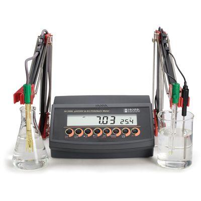 PH-ORP-ISE-EC-TDS-NaCl bench meter