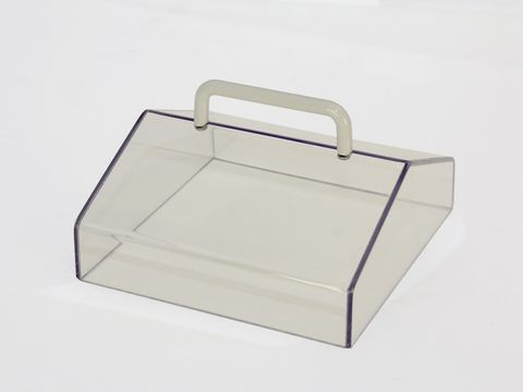 Lid gabled clear polycarbonate for WB4