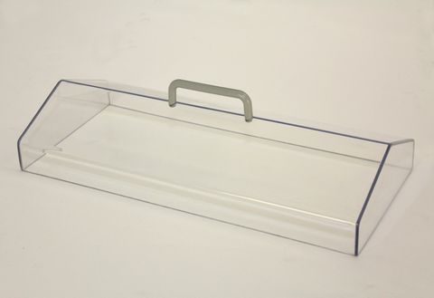 Lid gabled clear polycarbonate for WB7