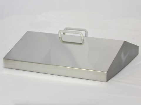 Lid gabled S/Steel for WB20 bath