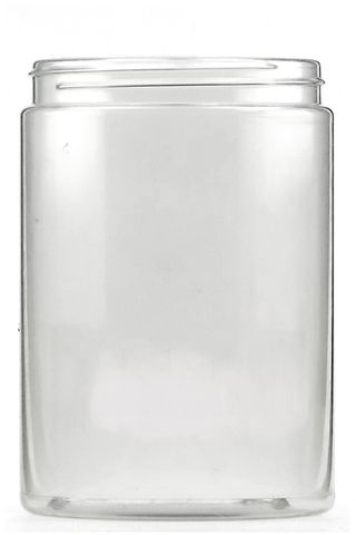 Jar clear PVC 500ml without lid