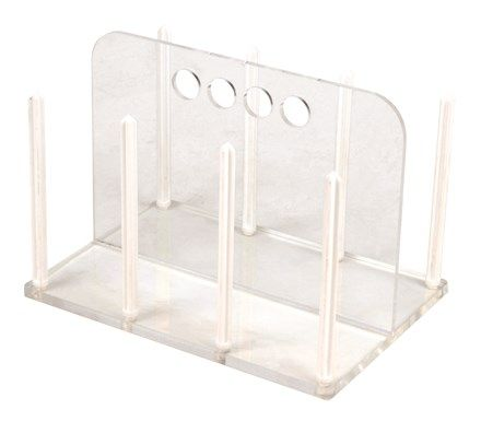 Petri dish rack acrylic holds 54 90mm