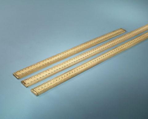 Ruler wooden 1mt long vertical scale