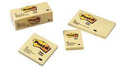 Post-it notes plain yellow 73x123mm