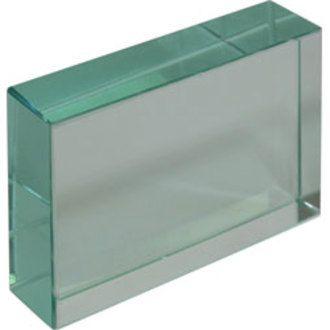 Slab glass 75x50x18mm thick