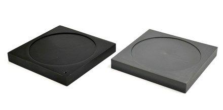 Ice melting plates 1x aluminum 1x foam