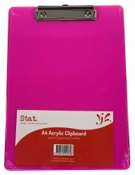 Clipboard Stat A4 acrylic red