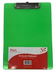 Clipboard Stat A4 acrylic green