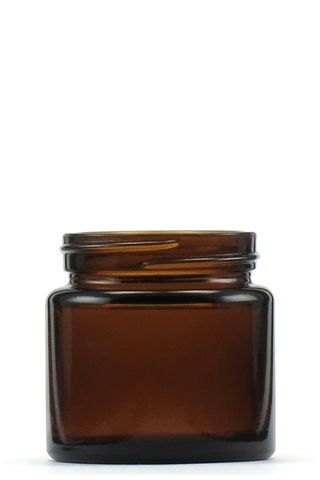 Jar pomade amber glass 65ml w/o lid