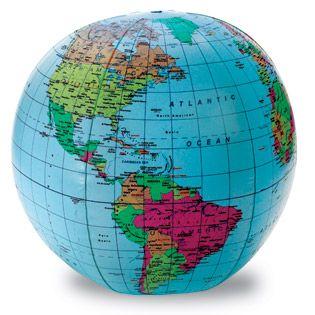 Globe inflatable political