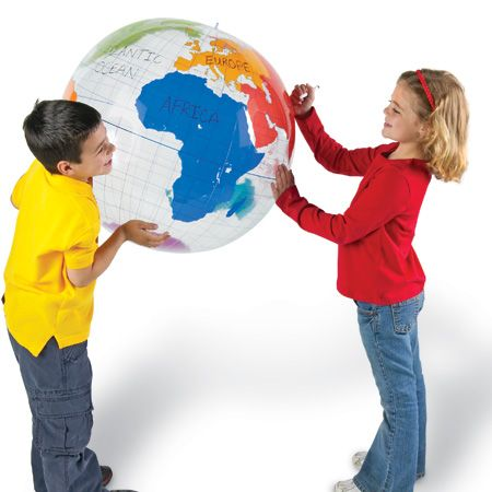 Globe inflatable labellling 70cm dia