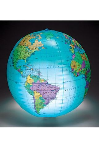 Globe inflatable light-up