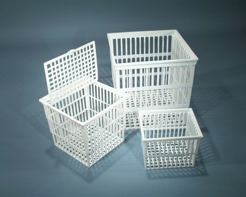 Basket test tube 230x230x230mm PP w/lid