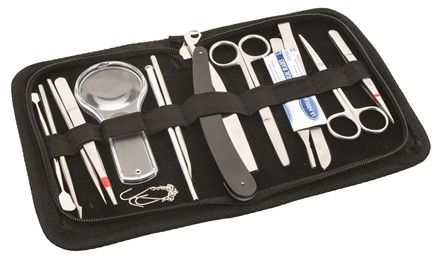 Dissecting instruments in wallet 14 pcs