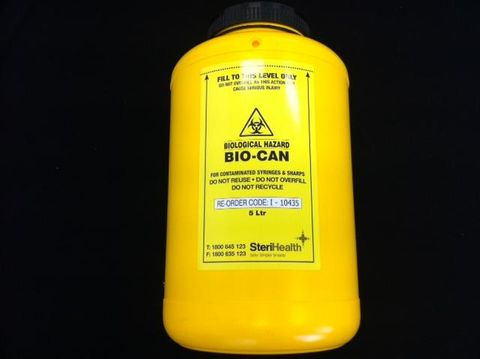 Sharps collector 5lt Biocan