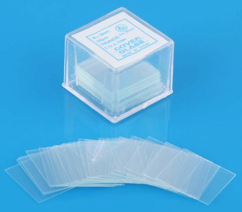 Glass cover slips No.1 20x20mm square