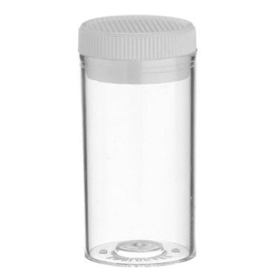 Vials styrene push in cap 55x28mm Clear