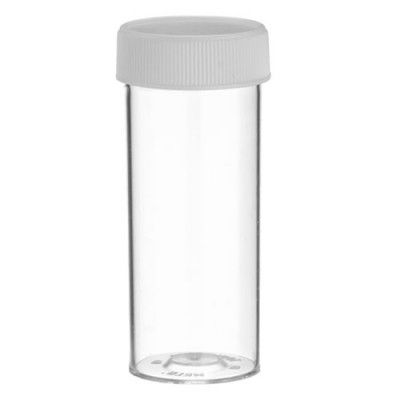 Vials styrene push in cap 69x28mm Clear