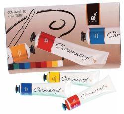 Chromacryl paint 75ml assorted colour 10