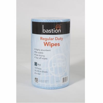Wipes regular duty 65m 130p 30x50cm blue