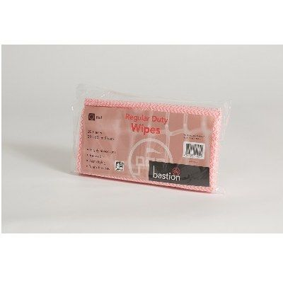 Wipes regular duty 30x60cm Red pkt/20