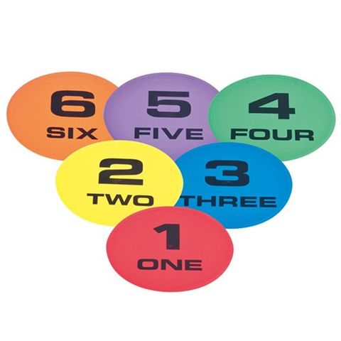 Numbered Markers Set (1-6)