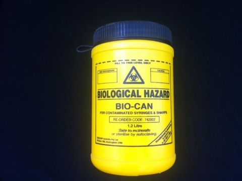 Sharps collector 1.2 litre Biocan