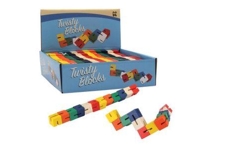 Wood Twisty Blocks 15cm