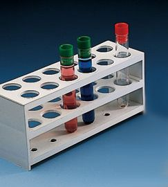 Test tube rack 3-tier PP holds 24x 20mm