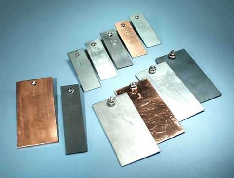 Plate electrode Copper 75x25x1.5mm