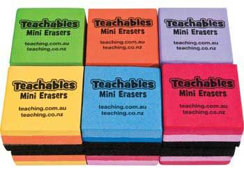 Teachables mini whiteboard erasers