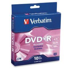 DVD+R Verbatim 4.7gB 8x on spindle