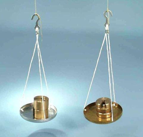 Scale pan aluminium w/chain & hook 75mm