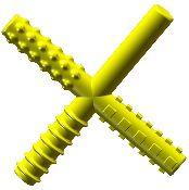 Chew Stixx - yellow textured cross
