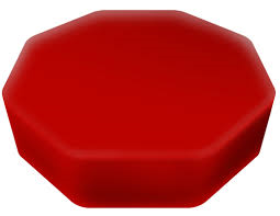 Senseez - Vibrating pilliow red octagon