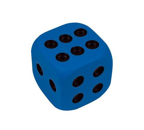 Dice 6 Face 90mm PVC - 4 Colours
