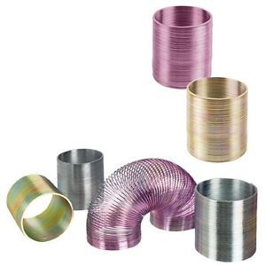 Metallic silly slinky round - mini