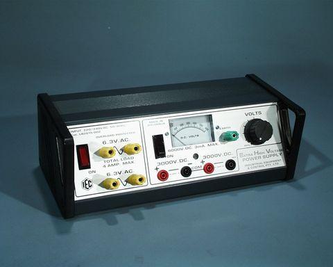 P/Supply EHV 0-6000V.DC/3mA w/volt meter