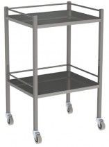 Trolley instrument with rail 60x49x90cm