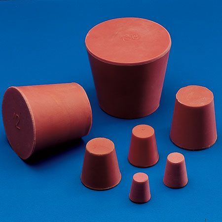 Stopper conical red rubber 18x13x22mm