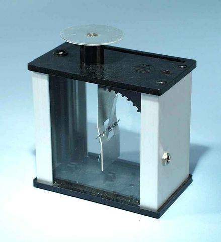 Electroscope metal vane in metal housing